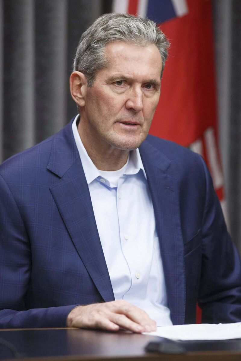 Premier Brian Pallister's government cited the provisions in 2019 while refusing comment about nursing shortages, lead levels in residential neighbourhoods and wait times for emergency medical treatment. (Mike Deal / Winnipeg Free Press files)