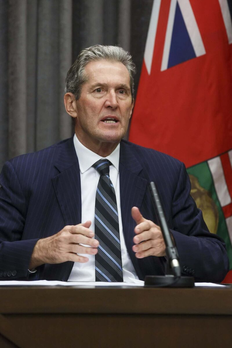 What is driving Premier Brian Pallister to push forward so aggressively?