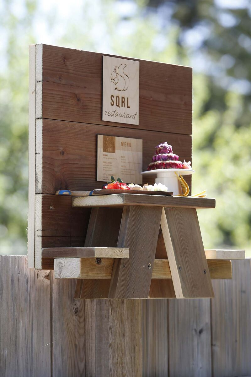 JOHN WOODS / WINNIPEG FREE PRESS</p><p>People can buy a squirrel picnic table for their own backyard, and a portion of the proceeds will go to the Wildlife Haven Rehabilitation Centre.</p>