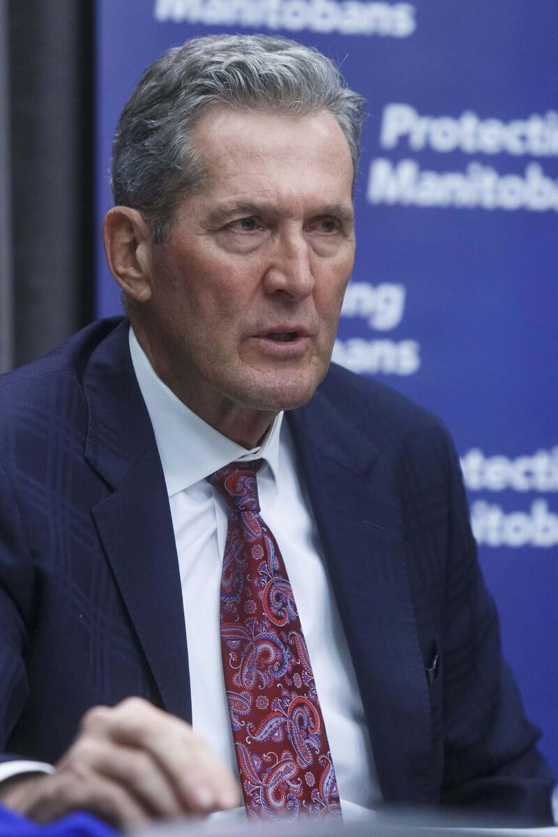 Premier Brian Pallister says public-health officials are too busy to release detailed information on contact tracing. (Mike Deal / Winnipeg Free Press files)
