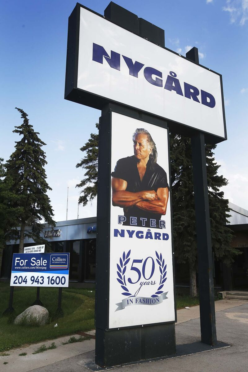 In Winnipeg you are used to Peter Nygard looking down from a billboard.