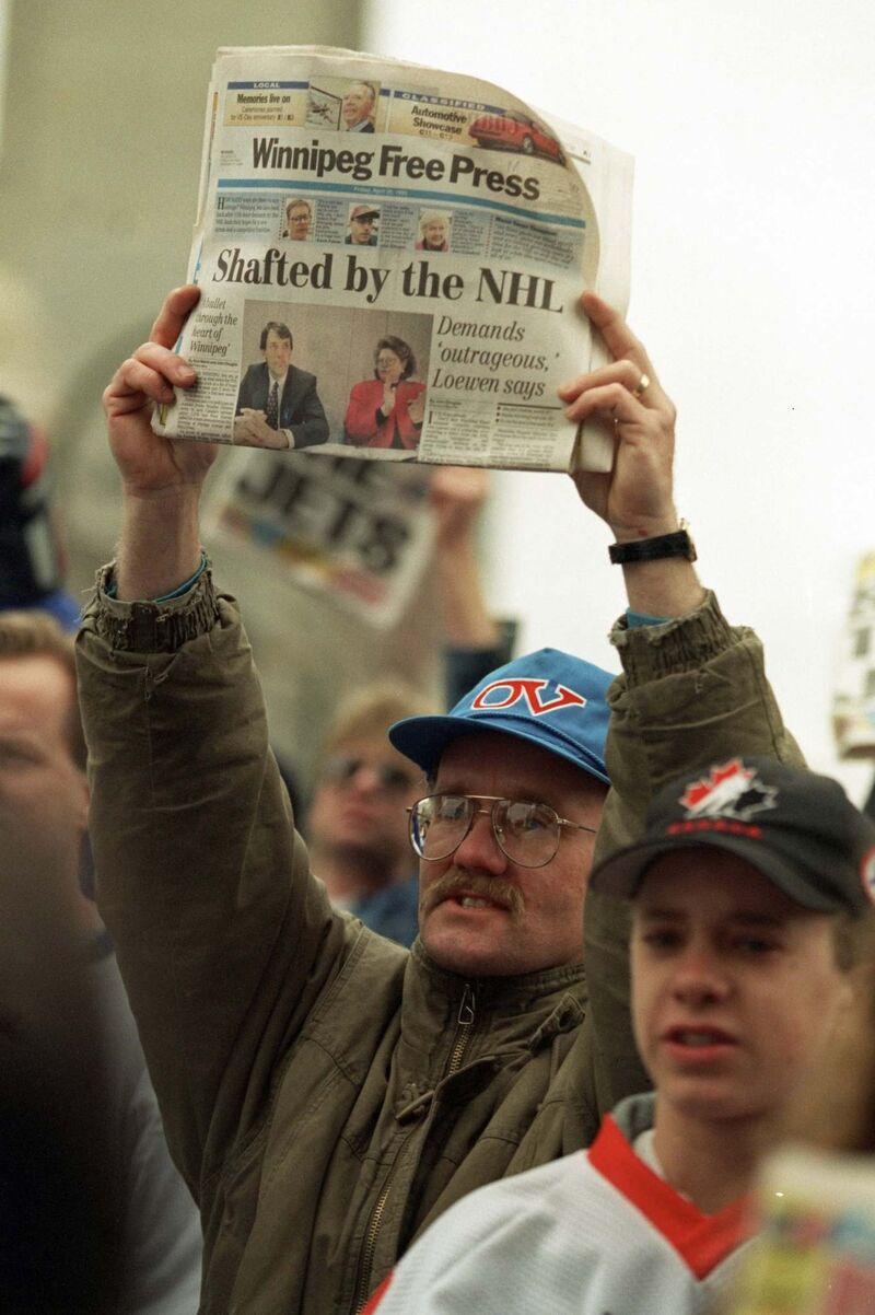 McIntyre covered the ill-fated Save The Jets rally back in 1995.