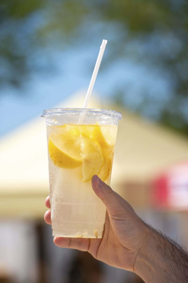 Freshly squeezed lemonade from Just a Little Squeeze.