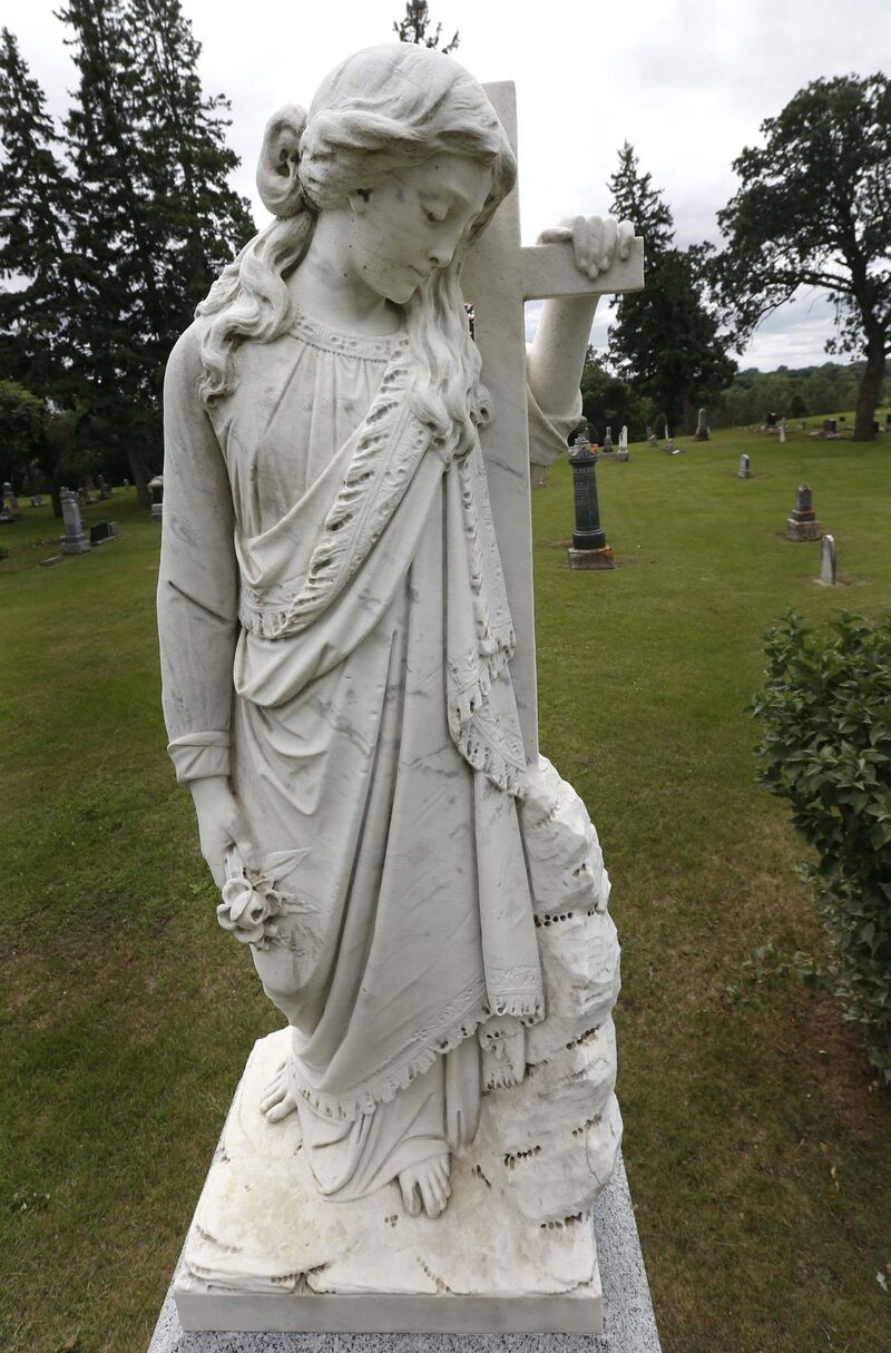 Check out the iconic Stone Angel up in a cemetary in Neepawa. (Wayne Glowacki / Free Press files)