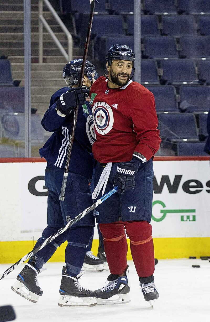 Winnipeg Jets' Dustin Byfuglien is looking for a playing partner.