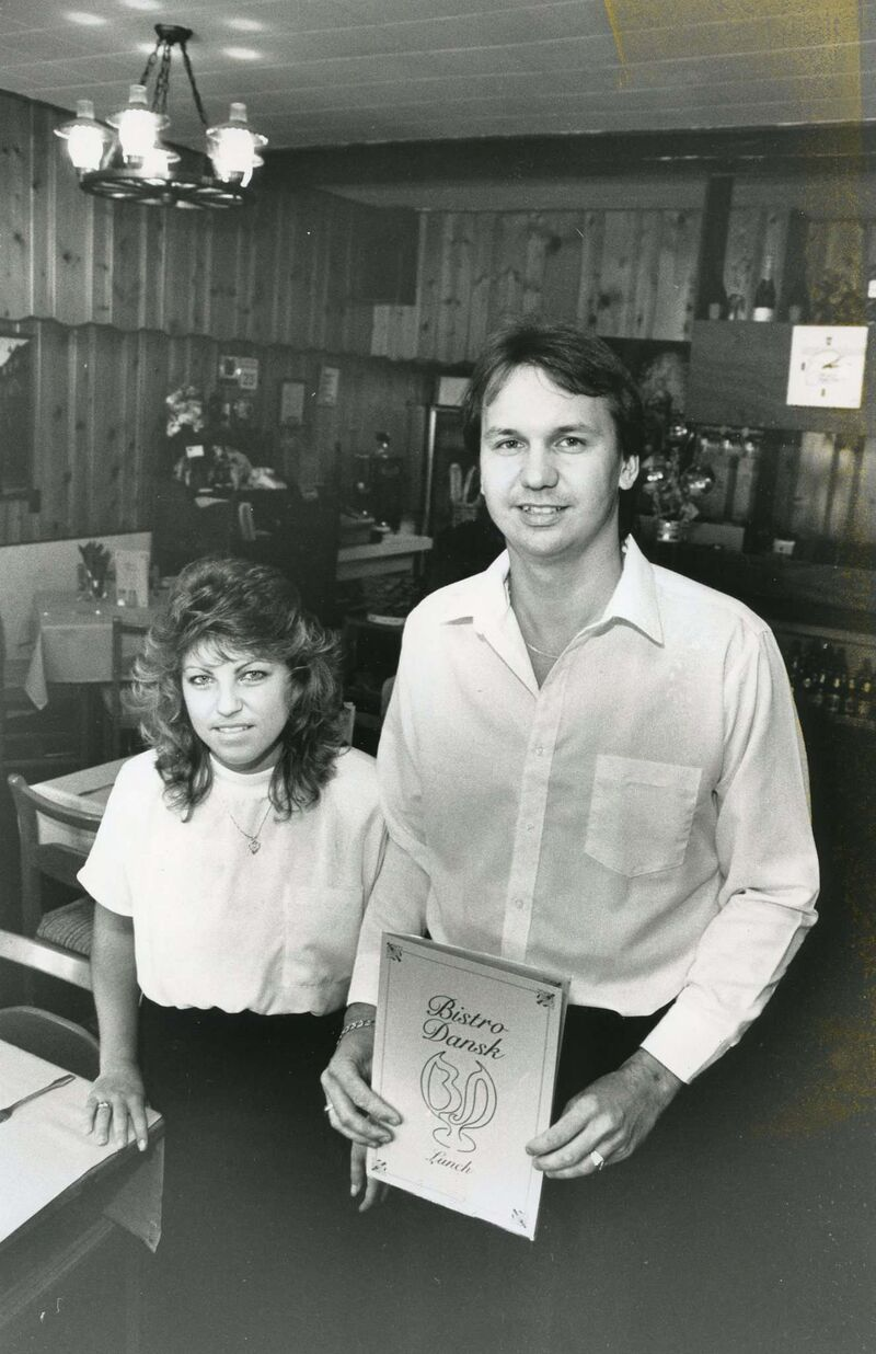 Pamela and Paul in their early days as owners of Bistro Dansk.</p>