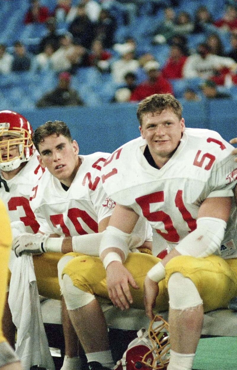 Mike O'Shea spent four seasons with the University of Guelph Gryphons, recording 19 career sacks and 310 tackles. (Supplied)</p>