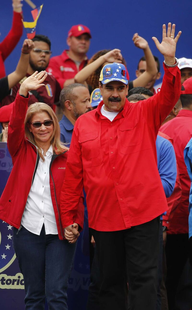Ariana Cubillos / The Associated Press</p><p>Venezuelan President Nicolás Maduro and first lady Cilia Flores.</p>