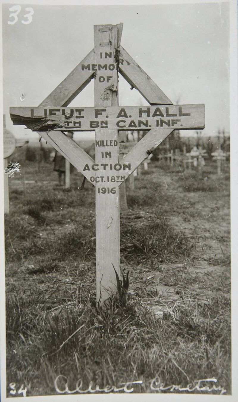 Archives of Manitoba</p><P>Grave of Lt. Frederick Averill Hall, a soldier with the 44th.</p>