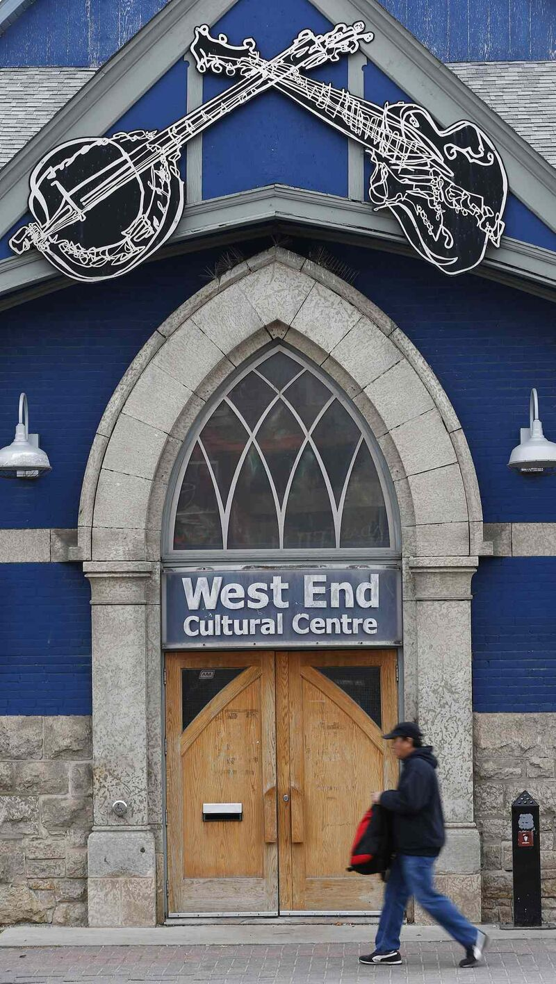 The West End Cultural Centre, at the corner of Ellice Avenue and Sherbrook Street. (John Woods / Winnipeg Free Press)