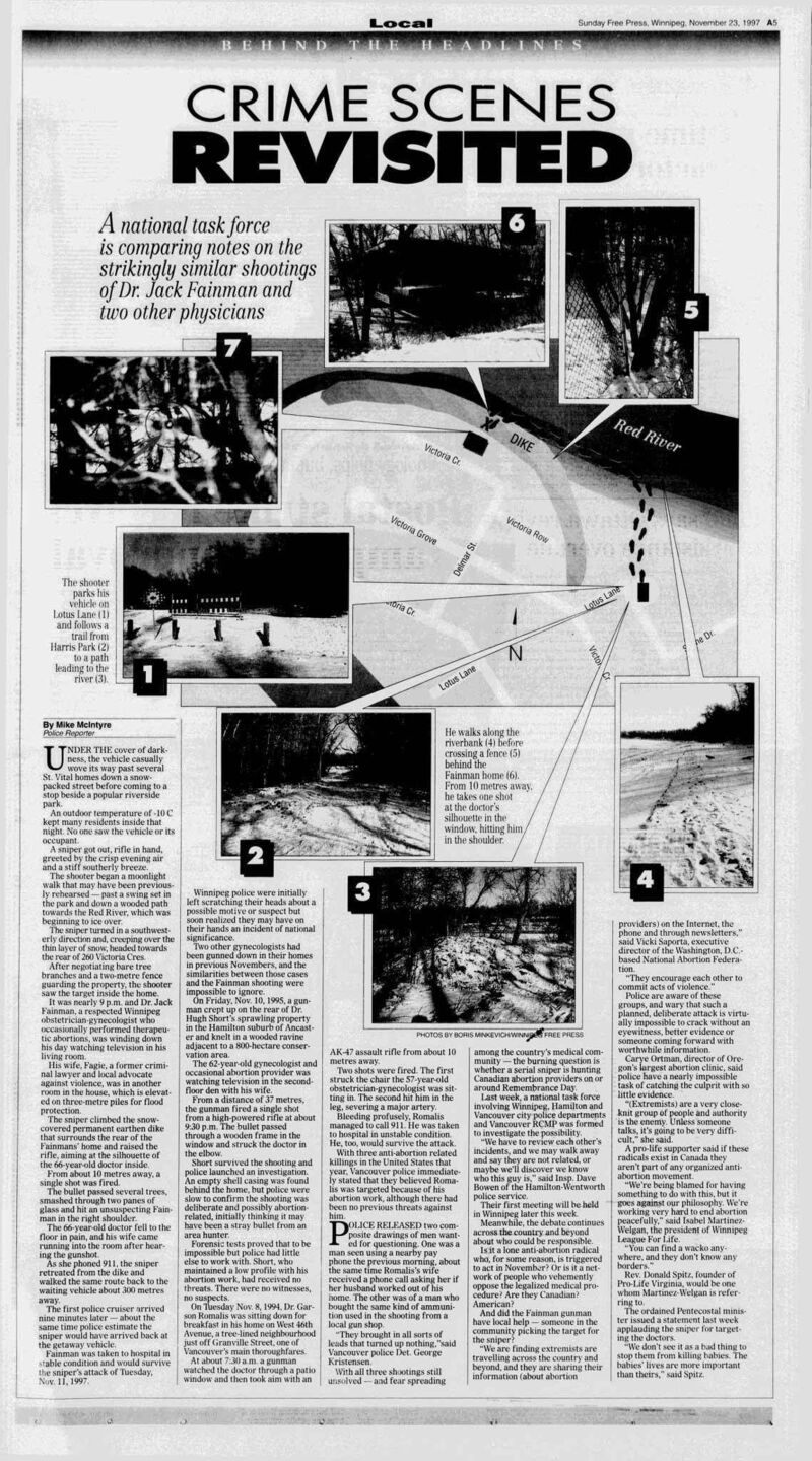 One of McIntyre's early crime features for the Winnipeg Free Press.</p>