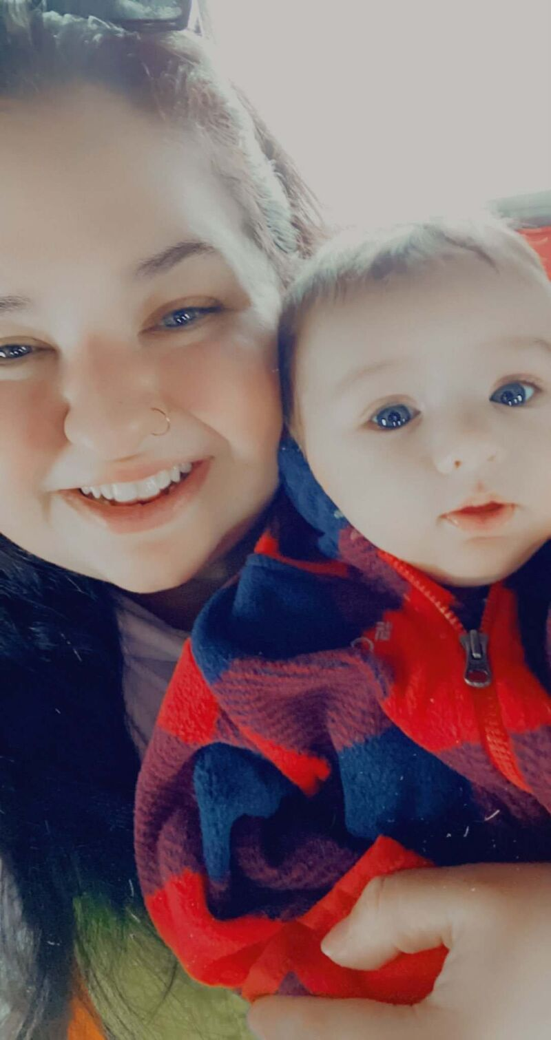 """Cyara Bird hated the fact her husband missed out on a lot of firsts with their son, Larson. """"He didn't get to see his only son's first wiggle on the ultrasound, he didn't get to hear Larson's heartbeat until I was in labour. I know how much it hurt him to not be able to see all of those firsts. (Supplied)</p>"""