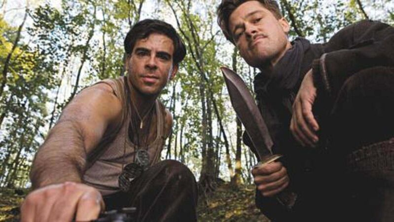 THE WEINSTEIN COMPANY</p><p>Eli Roth (left) and Brad Pitt in Inglourious Basterds.</p>