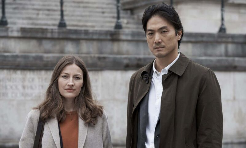 Kelly Macdonald, left, and Takehiro Hira in Giri/Haji. (Ludovic Robert / BBC / Sister Pictures)