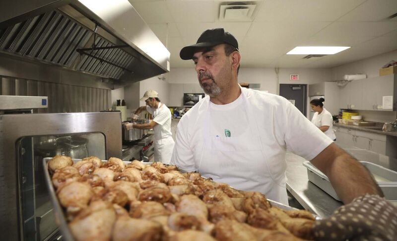 Elias Haddad was the executive chef at two restaurants he owned in Damascus. (Ruth Bonneville / Winnipeg Free Press) </p>