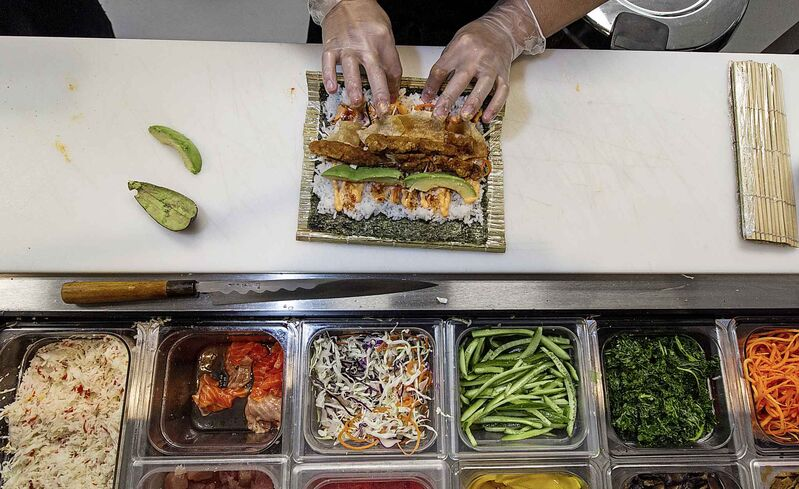 Chosabi serves up rice bowls and sushi burritos. (Mike Deal / Winnipeg Free Press files)