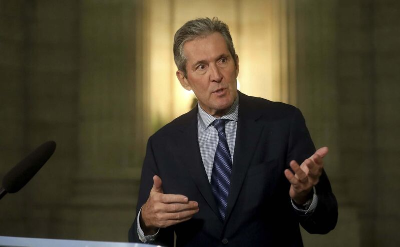Pallister lashed out with relish at Trudeau and Legault over a face-to-face meeting between the two men earlier this month.  (Trevor Hagan / Winnipeg Free Press)