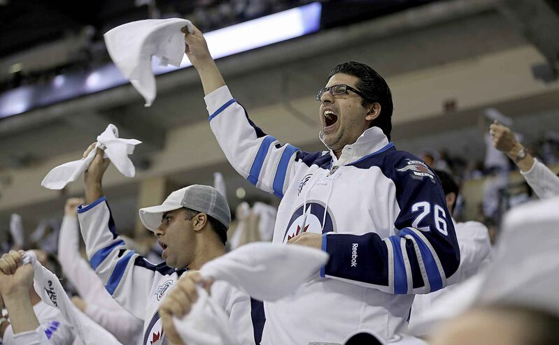 Winnipeg Jets' fans during game 4 of the playoff series against the Anaheim Ducks in 2015.