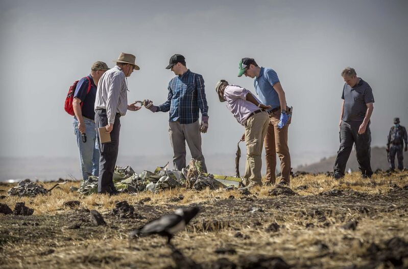 Ethiopian Airlines had issued no new updates on the crash as of late afternoon Tuesday as families around the world waited for answers, while a global team of investigators began picking through the rural crash site. (Mulugeta Ayene / The Associated Press)</p>