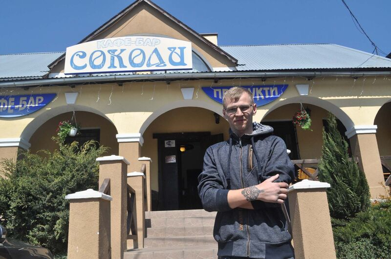 Construction worker Mykhailo Chyzhevskiy, outside a restaurant in Sokilnyky, says about 40 per cent of his peers have left for Poland for work.
