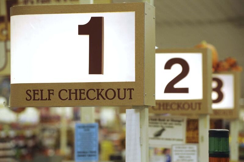 We 'save time' by using mobile-ordering and self-checkout at supermarkets so we can do what? (Jessica Hill / The Associated Press files)