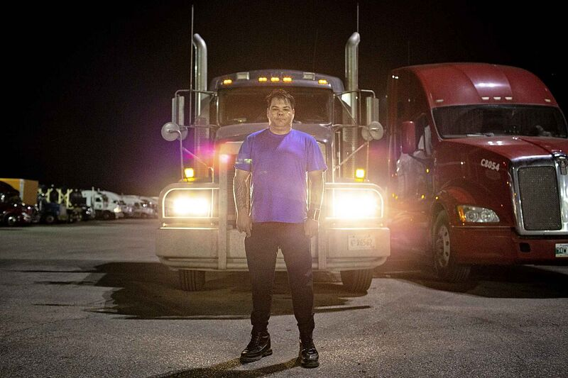 One of the most difficult parts of truck driving is eating healthy, says Cory Bodnarchuk.