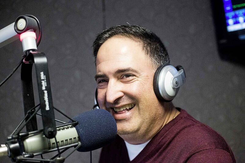 MIKAELA MACKENZIE / WINNIPEG FREE PRESS Radio personality Joe Aiello was offered to join Vince McMahon's travelling circus full time, but opted to stay in Winnipeg to continue working in radio.