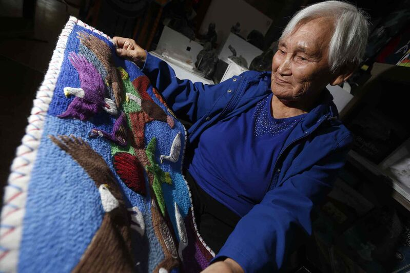 JOHN WOODS / WINNIPEG FREE PRESS</p><P> Wall hangings by Mary Yuusapiq Singaqti will be featured in a solo show at the WAG. &#39;I worry if people are going to like them,&#39; she says.