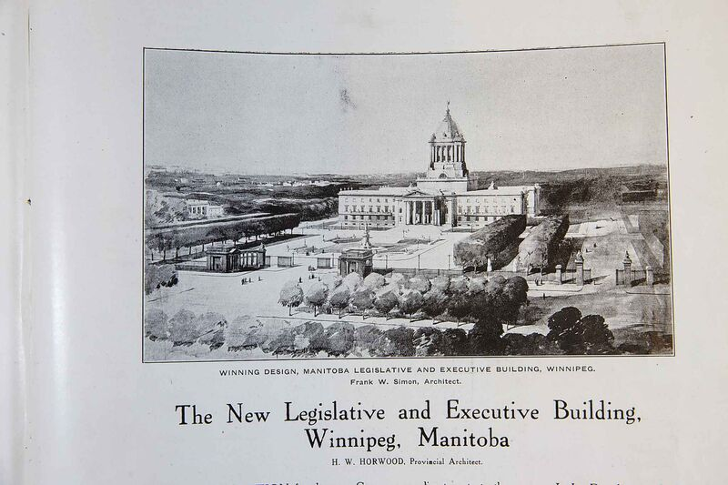 Article on the winning design for the Manitoba Legislative Building. (Archives of Manitoba)