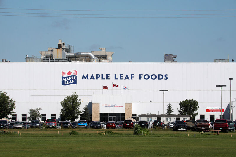 More than half of all active cases in Manitoba are located in the Prairie Mountain Health region, including 120 in the city of Brandon, where a large cluster has broken out among employees at the Maple Leaf Foods plant. (Tim Smith / The Brandon Sun files)