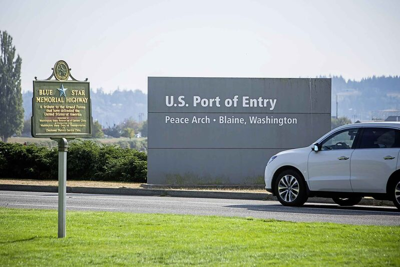 U.S. Port of Entry at the Peace Arch Border Crossing.