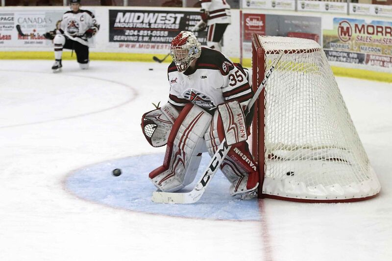 Virden's Dalton Dosch is the go-to man in net. (Perry Bergson /Brandon Sun files)