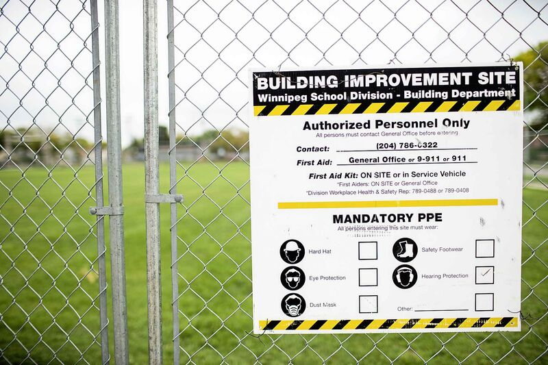 The field at Weston School in Winnipeg was found to have more than 1,000 mg/g lead levels in 2018.