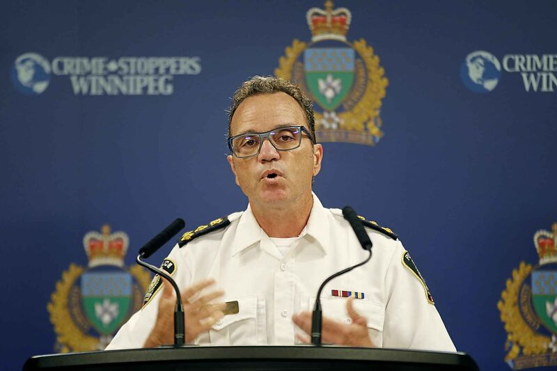 Police Chief Danny Smyth at the Monday morning police press briefing.