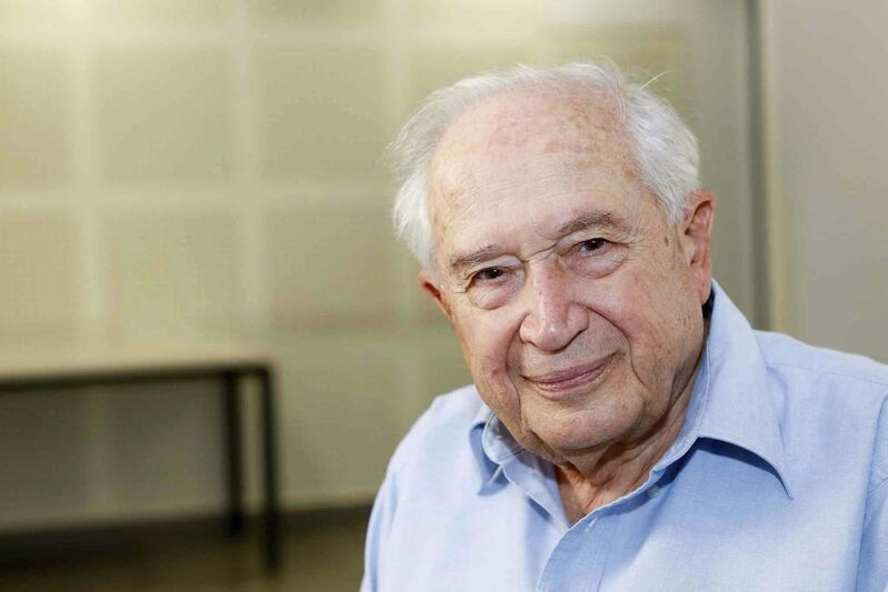 """<p>Israeli chemist Raphael Mechoulam is known to many as """"the grandfather of cannabis research."""" (Courtesy of AG / The Hebrew University of Jerusalem)</p>"""