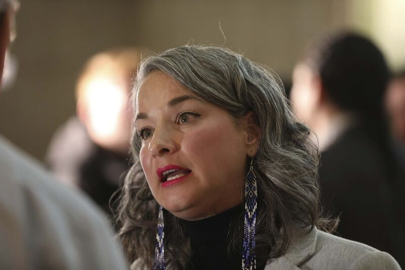 RUTH BONNEVILLE / WINNIPEG FREE PRESS FILES</p><p>NDP MLA Nahanni Fontaine.</p>