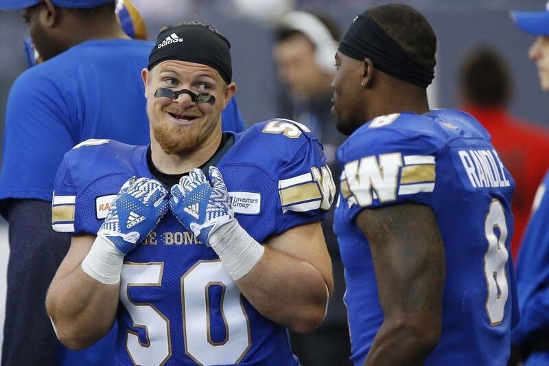 John Woods / The Canadian Press files</p><p>Winnipeg Blue Bombers middle linebacker Adam Bighill, left, said Wednesday the team is 'not going to give away big plays.'</p>