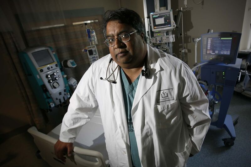 """Winnipeg Regional Health Authority attending ICU physician Dr. Anand Kumar: """"I doubt we can staff up to the number that we staffed up to before."""""""