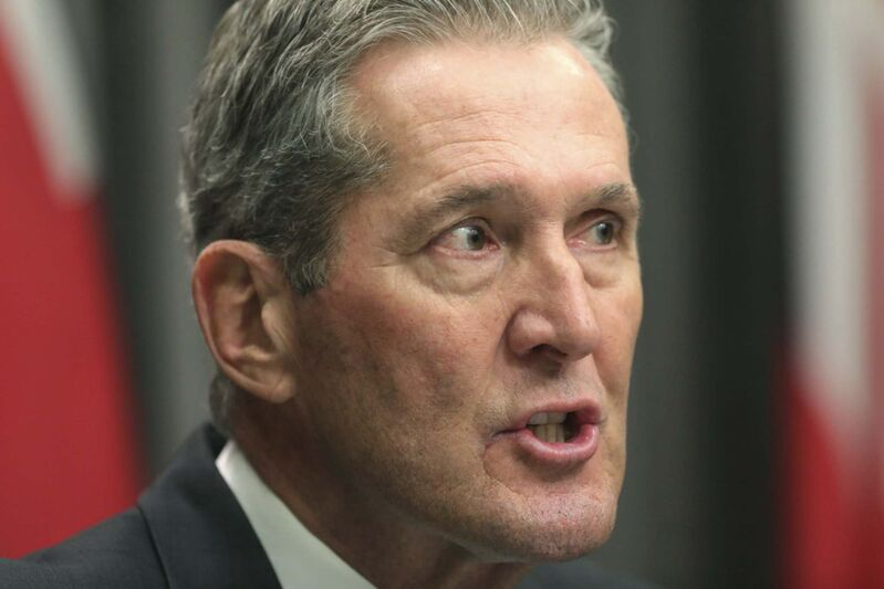 Premier Brian Pallister says he's the guy Manitobans need right now. (Ruth Bonneville / Winnipeg Free Press)