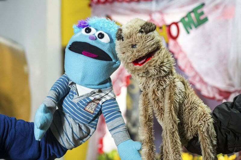 MIKAELA MACKENZIE / WINNIPEG FREE PRESS</p><p>Puppets act out skits in between the musical entertainment on The Good Will Stay at Home Club show.</p></p>