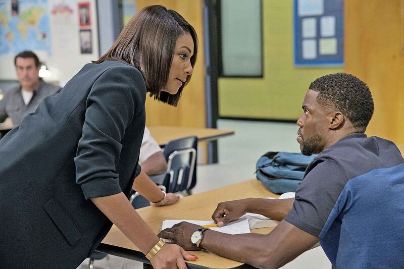 Tiffany Haddish, left, and Kevin Hart in a Night School. (Universal Pictures)