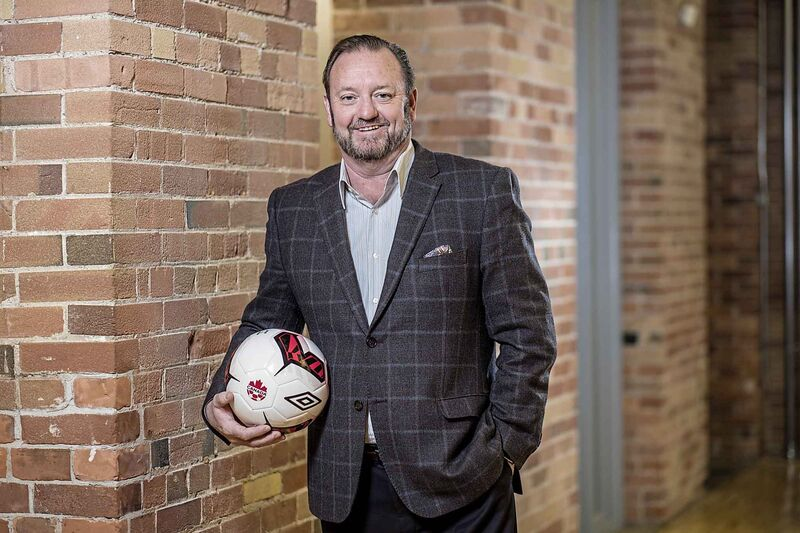 """This a milestone moment for soccer in this country. Having the 2026 FIFA World Cup in Canada will transform the way that Canadians perceive the global game and change the way the world sees Canada,"" says Canadian Premier League commissioner David Clanachan. (Darren Goldstein / Canadian Premier League)"