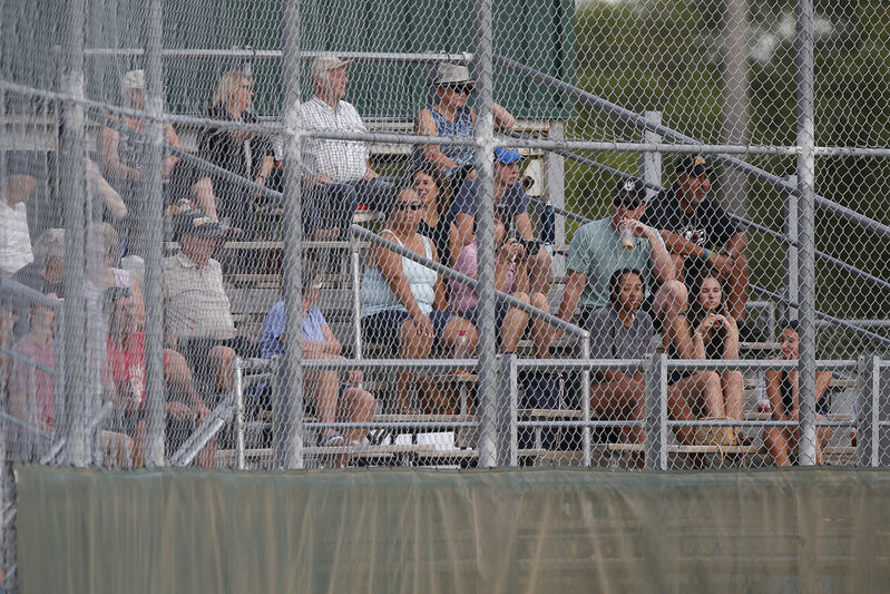 Fans packed the stands to watch the Elmwood Giants play in the Manitoba Junior Baseball League playoffs last week.