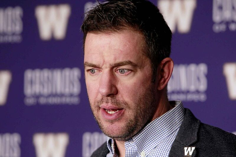 Blue Bombers' General Manager Kyle Walters.