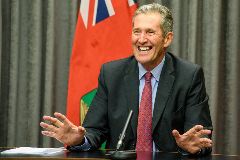 Manitoba premier Brian Pallister July 14 after announcing it was time to end the lockdown.