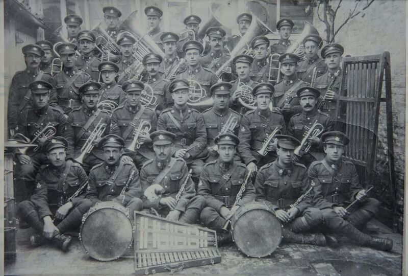 Archives of Manitoba</p><p>44th Battalion band in France</p>