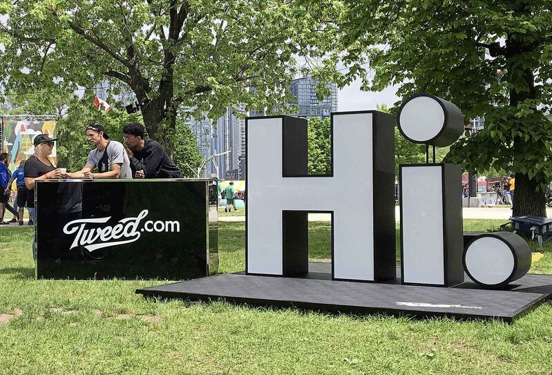 Representatives for Tweed Inc. mingle with concertgoers at the Field Trip music festival in Toronto in June. Companies have been unclear how to stay within the rule of law when it comes to advertising and promotions.