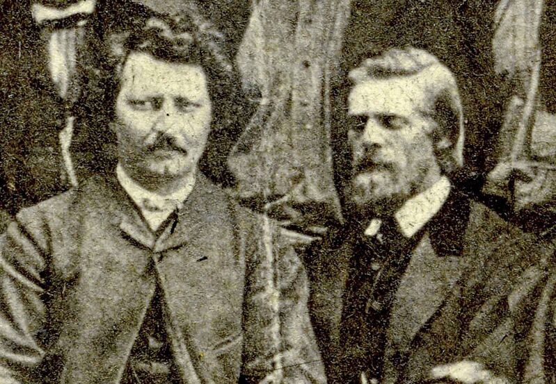 Irish-born William O'Donoghue, right, was once a key player in Louis Riel's provisional government.