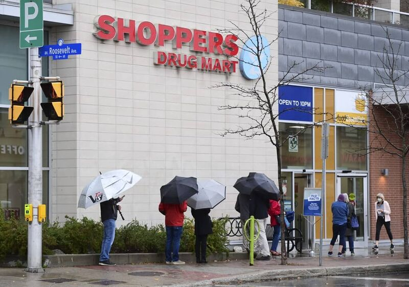 Shoppers and its pharmacies in Superstores and No Frills stores managed to immunize two million Canadians with the flu vaccine in five weeks in the fall of 2020. THE CANADIAN PRESS FILES/Sean Kilpatrick