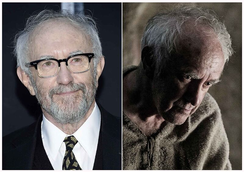 Jonathan Pryce (left) is perhaps best known as his character High Sparrow on HBO's Game of Thrones. (Photos by Evan Agostini/Invision/AP and HBO)